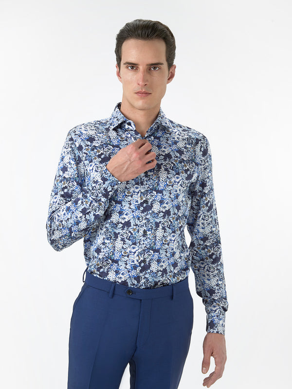Mens-Silk-Shirt-Navy