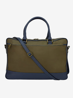 Leather-Trimmed-Nylon-Briefcase-Green