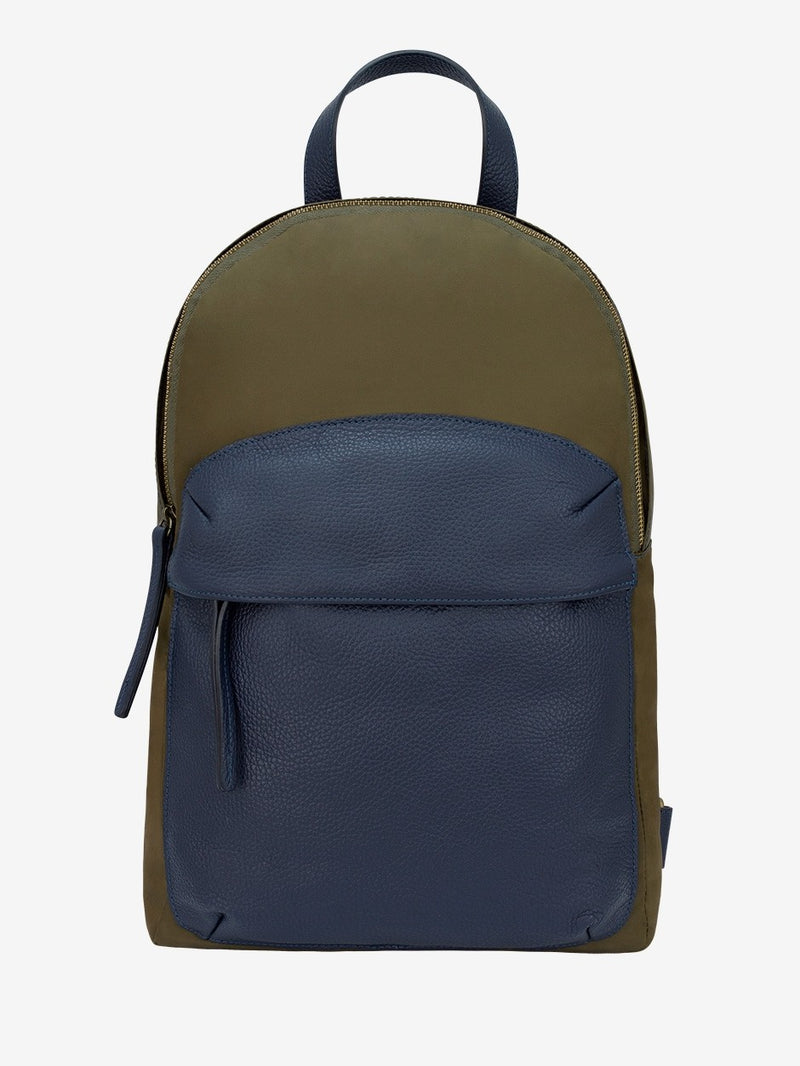 Leather-Trimmed-Nylon-Backpack-Green