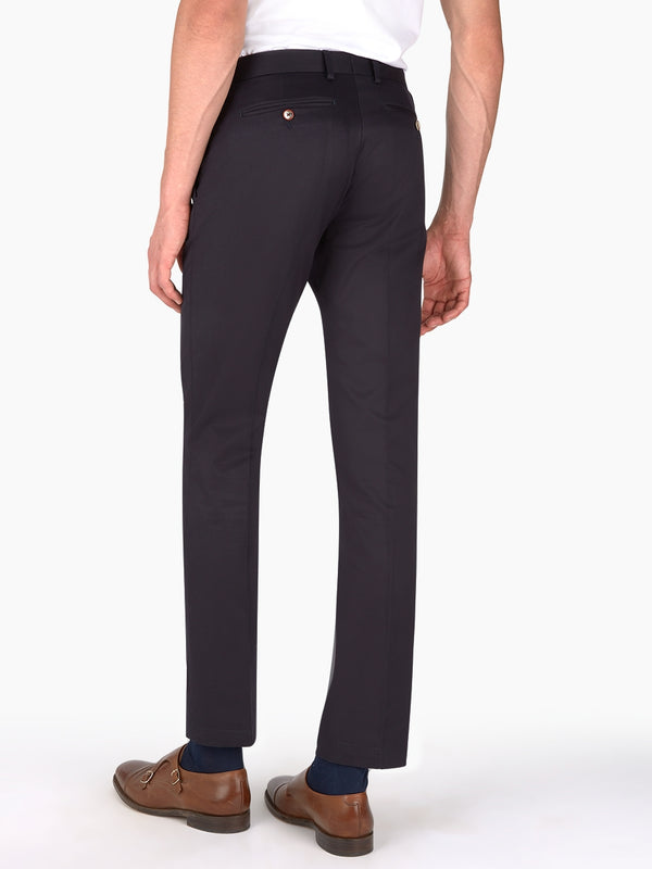 Plain Twill Trousers Navy