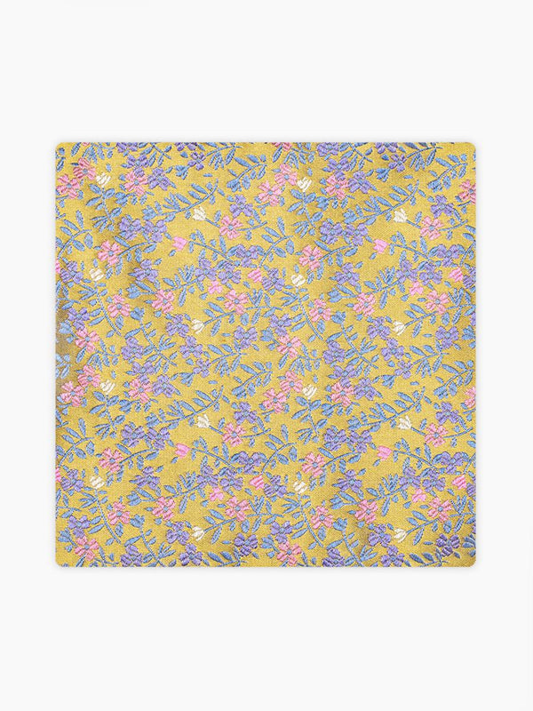 Micro-Floral-Pocket-Square-Yellow