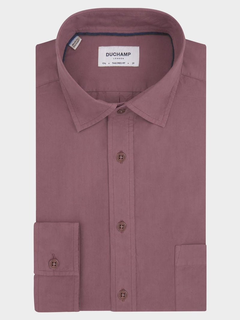 Plain Poplin Shirt Purple