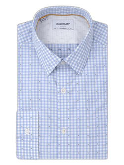 Fil Coupe Gingham Shirt Blue