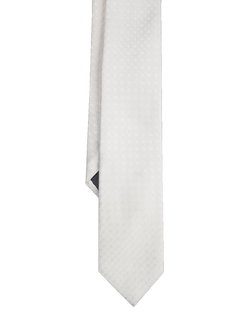 Textured Geometric Tie White