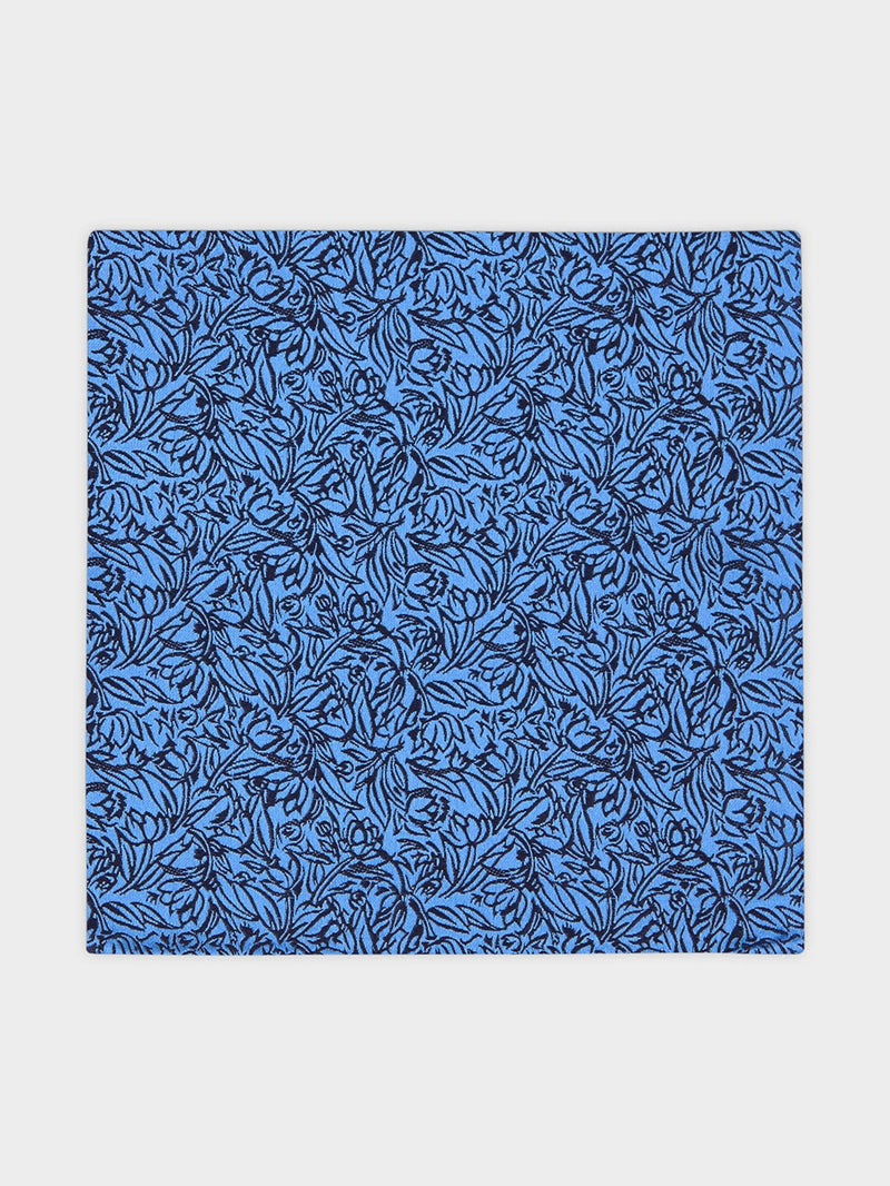 30S Ditsy Floral Pocket Square Blue