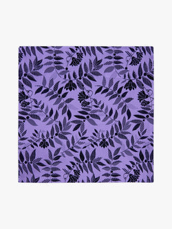 Tropical Floral Pocket Square Purple