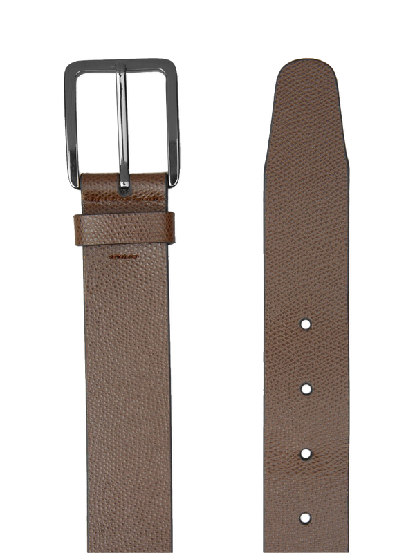 Heavy-Grain-Saffiano-Belt-Brown