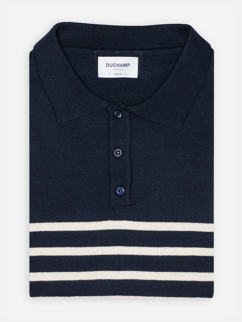 Luxury-Stripe-Poloshirt