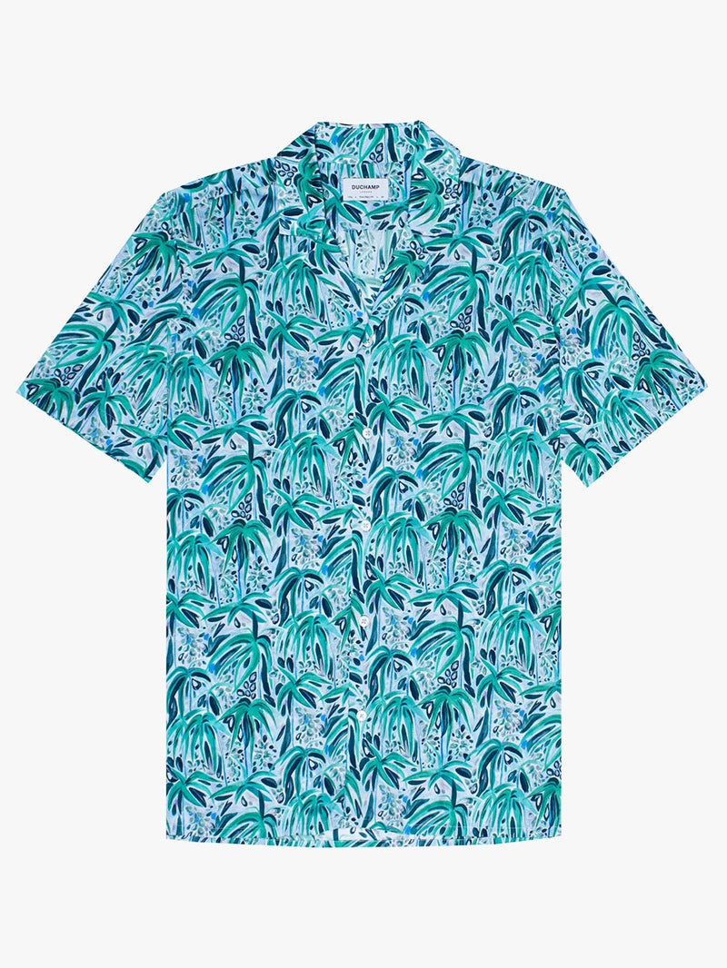 Tropical-Print-Shirt-Green