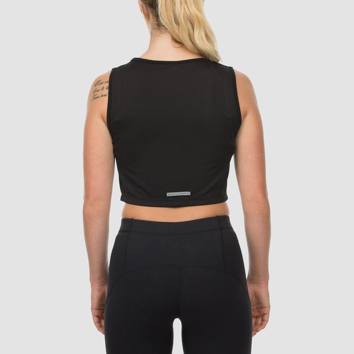 Imperial Cropped Mesh Top