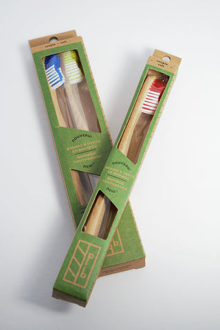 Brosses à dents en bambou Quebec. bamboo toothbrush Quebec