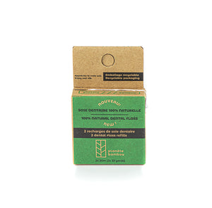 Soie dentaire naturelle-Boite 2 recharges / Natural dental floss-Box 2 refills