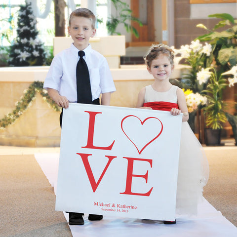 Modern Love Custom Wedding Banner