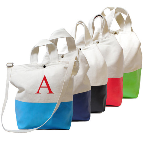 Kiwi Color Dipped Canvas Tote