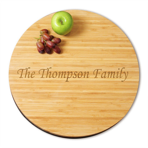 Small 9.84 in. Bamboo Lazy Susan