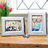Horizontal Elegant Silver Picture Frame