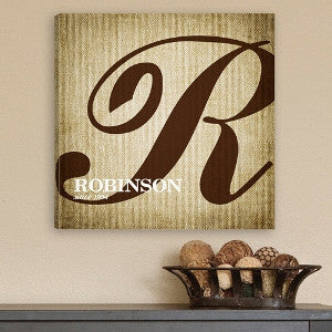 Calligraphy Monogram Canvas