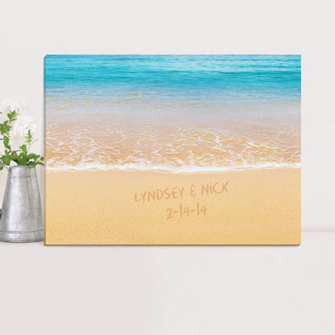Couples Canvas Prints - Caribbean Sea