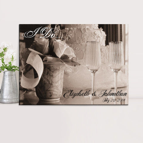 Couples Canvas Prints - I DO