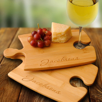 Bamboo Puzzle Cutting Board Set