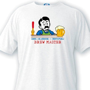 Brewmaster Guys White T-Shirts