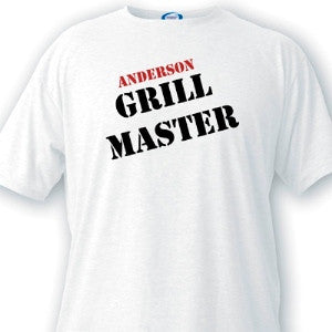 Grill Master Guys White T-Shirts