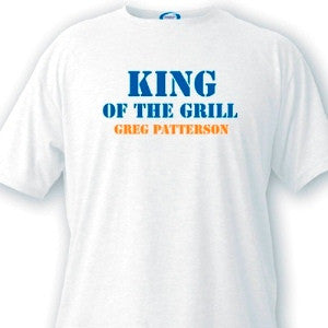 King of the Grill Guys White T-Shirts