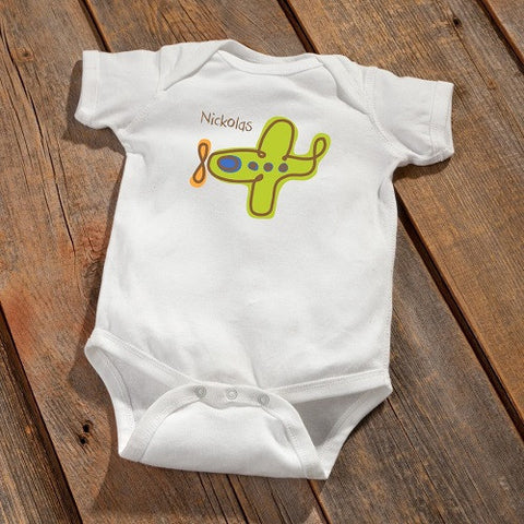 Personalized Baby Onesie - Airplane Design