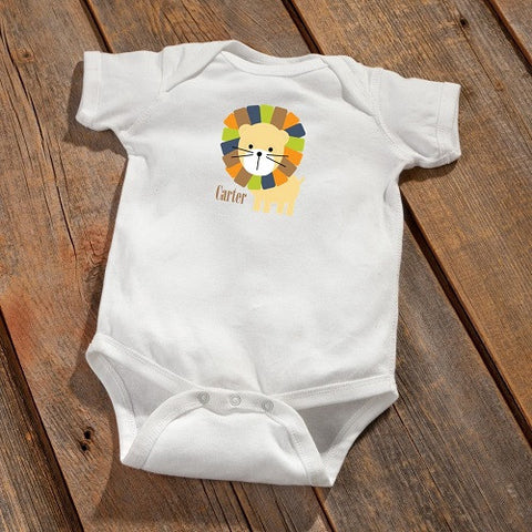 Personalized Baby Onesie - Lion Design