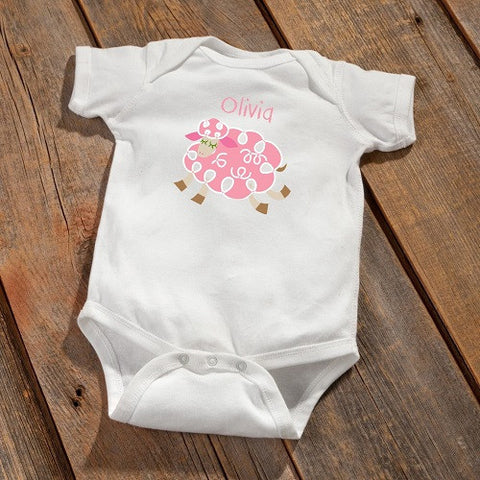Personalized Baby Onesie - Sheep Design