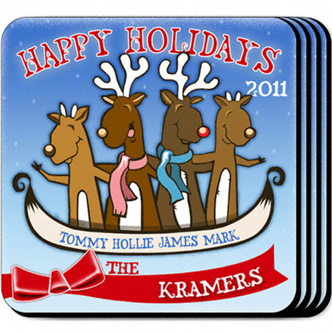 Coaster Set - Reindeer 4