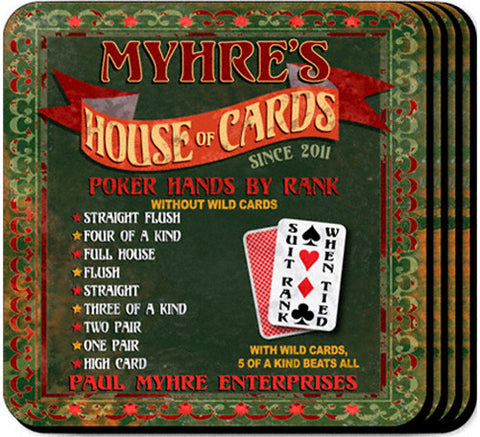 Coaster Set - House of Cards