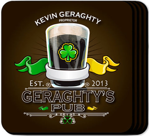 Coaster Set - Irish Pub