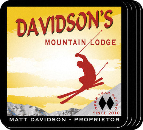 Coaster Set - Ski Lodge