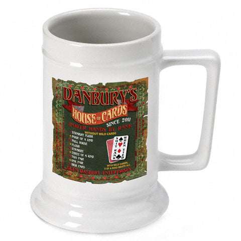 16oz. Ceramic Beer Stein - House of Cards