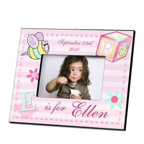 Personalized  Children's Frames - Girly Bee Block