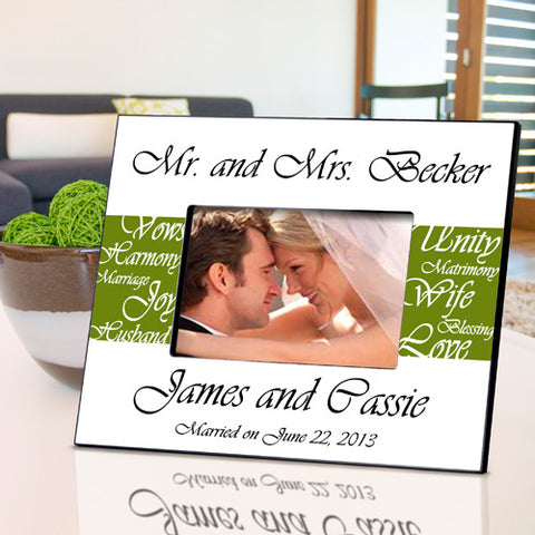Mr. & Mrs. Wedding Frame - Green