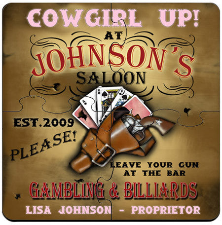 Coaster Puzzle - Cowgirl