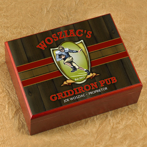 Personalized Humidor - Gridiron
