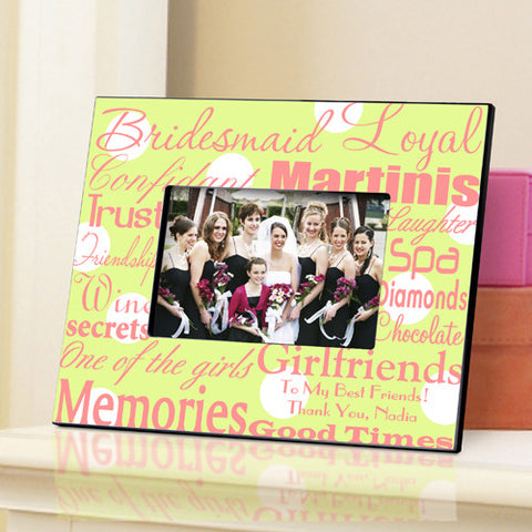 Bridesmaid Frame - Green Dots