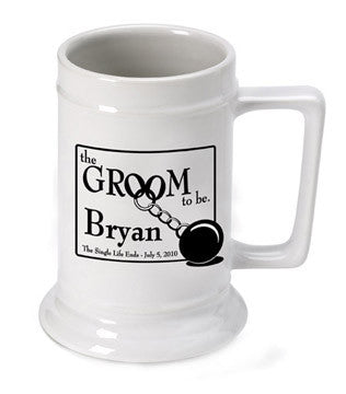 Personalized Groom to Be Beer Stein