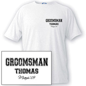 Collegiate Series Groomsman T-shirt