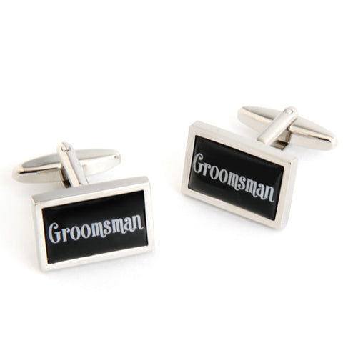Dashing Cuff Links with Personalized Case - Groomsman