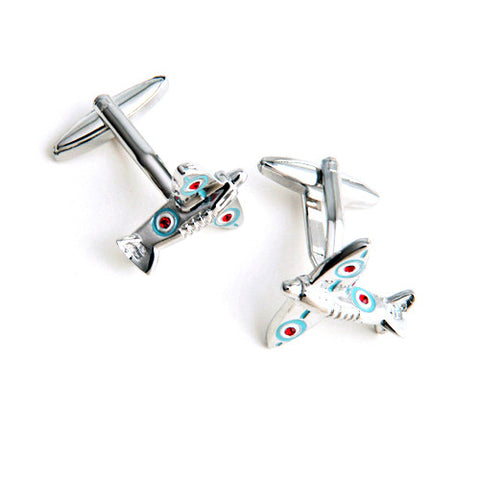 Dashing Cuff Links with Personalized Case - Spit Fire