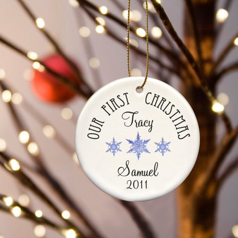 Our First Christmas Ornament - Style 3