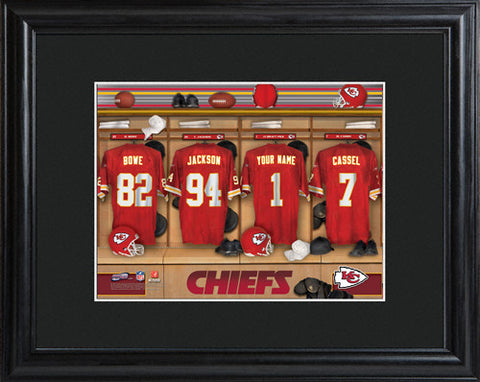 NFL Locker Print with Matted Frame - Chiefs