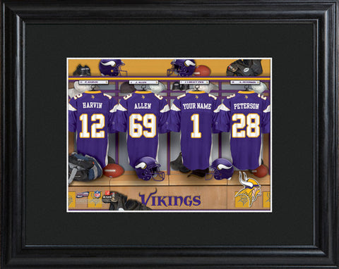 NFL Locker Print with Matted Frame - Vikings