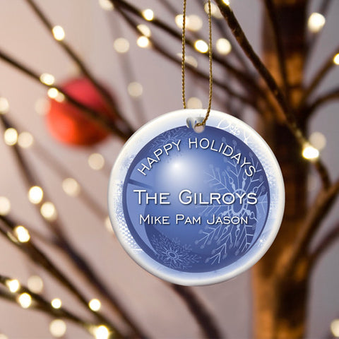 Holiday Ornaments - Blue Christmas