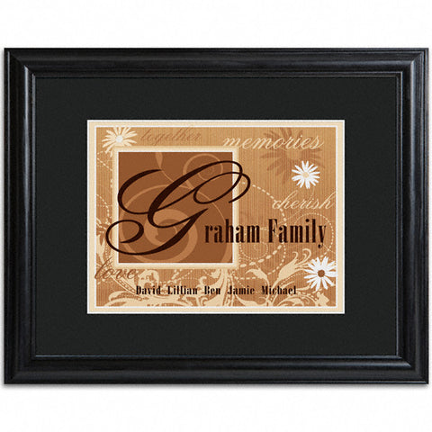 Family Name Frame - Brown