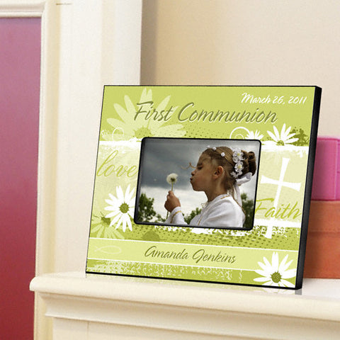 First Communion Picture Frame - Delicate Daisy